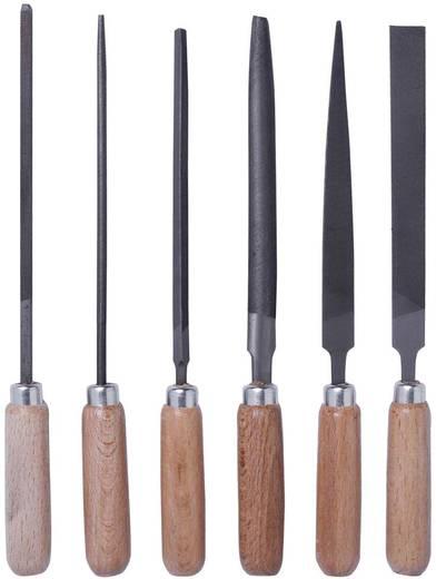 Set sleutelvijlen met houten heft in etui 6-dlg. Bernstein