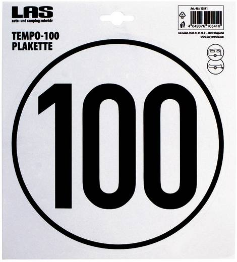 LAS 10541 100 km/h Temposticker