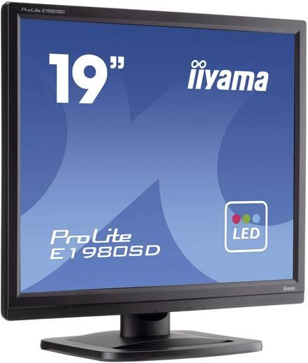 Iiyama E1980SD-B1 LED-monitor 48.3 cm (19 inch) Energielabel n.v.t. SXGA 5 ms DVI, VGA TN LED