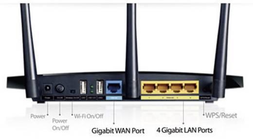 WiFi router TP-LINK Archer C7 V2 2.4 GHz, 5 GHz 1.75 Gbit/s