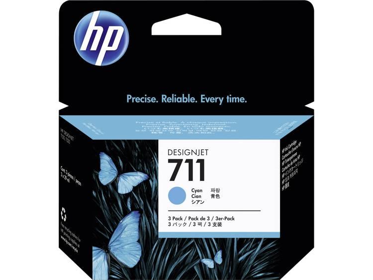 HP Inkt 711 Origineel Triple Cyaan CZ134A
