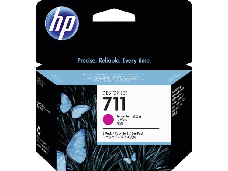 HP Inkt 711 Origineel Triple Magenta CZ135A