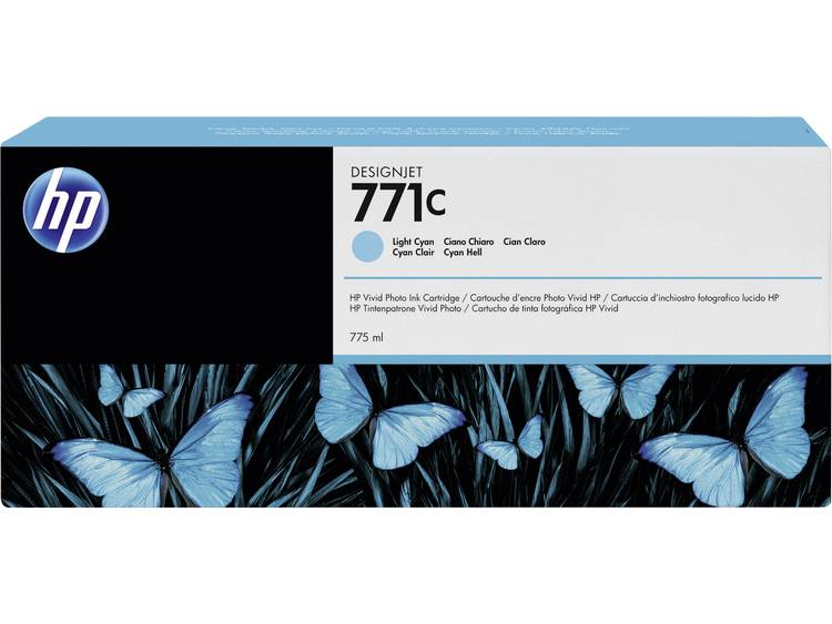 HP Inkt 771C Origineel Lichtcyaan B6Y12A