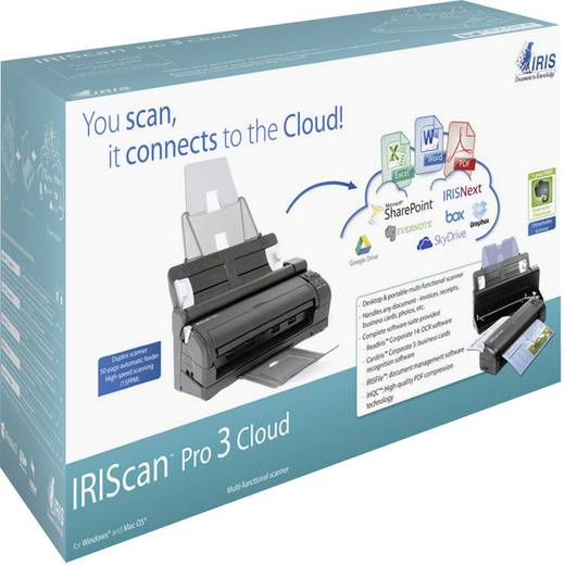 IRIS by Canon IRIScan™ Pro 3 Cloud Documentenscanner A4 600 x 600 dpi USB