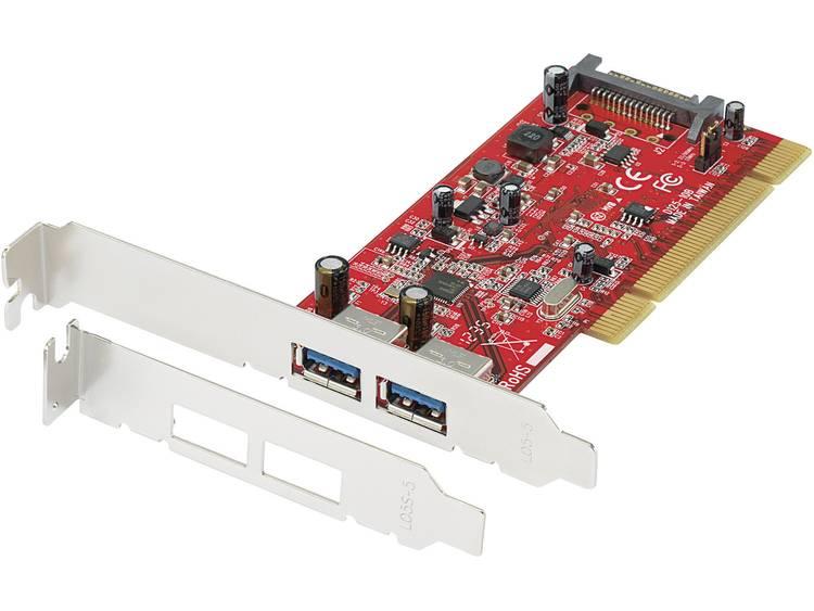 2 poorten USB 3.0-controllerkaart USB-A PCI Renkforce