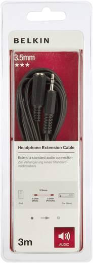 Belkin Jackplug Audio Kabel [1x Jackplug female 3.5 mm - 1x Jackplug male 3.5 mm] 3 m Zwart