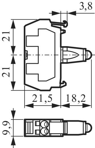 LED-element Geel 230 V/AC BACO 33RAYH 1 stuks