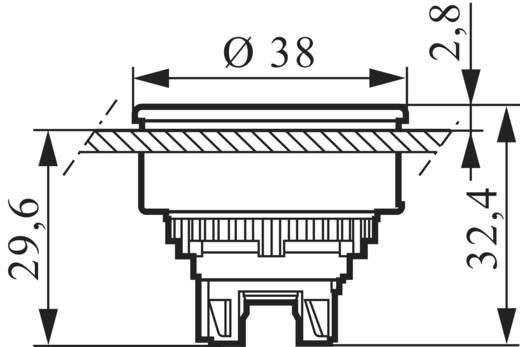 BACO BAL23AA31302 Druktoets Metalen frontring, Verchroomd Rood 1 stuks