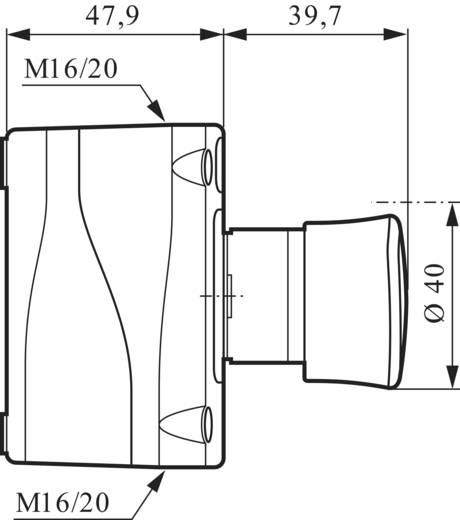 Paddestoelschakelaar In behuizing 240 V/AC 2.5 A 2x NC BACO LBX130009 IP66 1 stuks