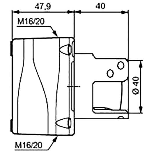 Paddestoelschakelaar In behuizing, Met beschermde kraag 240 V/AC 2.5 A 2x NC BACO LBX130092 IP66 1 stuks