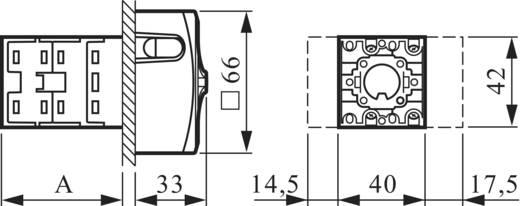 Lastscheidingsschakelaar Uitschakelbaar 20 A 400 V 1 x 90 ° Rood, Geel BACO NS4EV48 1 stuks