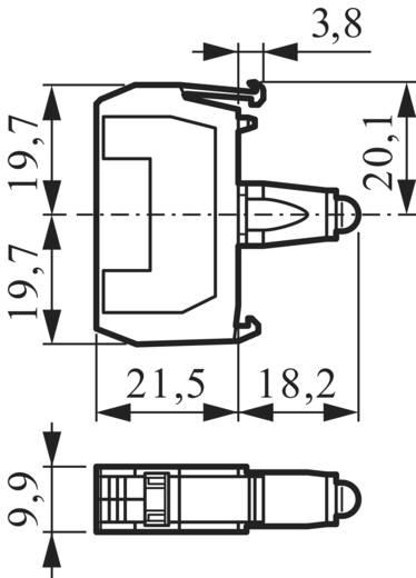 LED-element Geel 130 V BACO 33EAYM 1 stuks