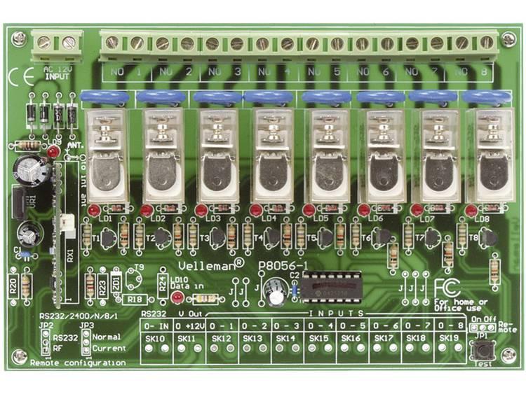 Velleman 8-kanaals RF-afstandsbedieningsset VM118 Module 230 V-AC