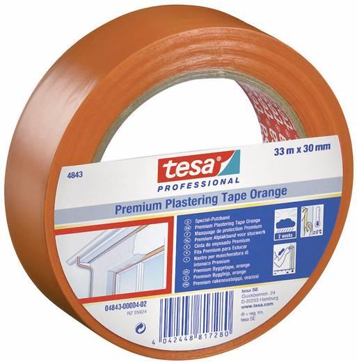 tesa Pleisterband Oranje (l x b) 33 m x 50 mm Rubber Inhoud: 1 rollen