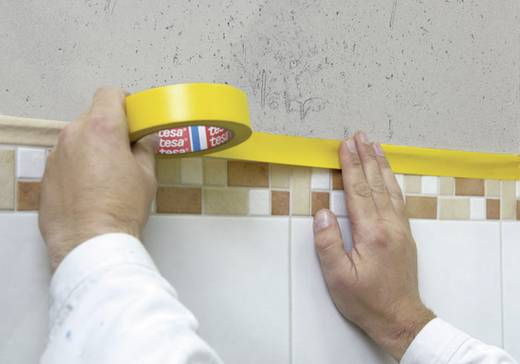 tesa Gipstape Geel (l x b) 33 m x 50 mm Inhoud: 1 rollen