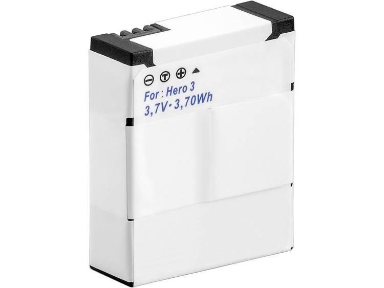 Conrad energy Camera-accu Vervangt originele accu AHDBT-301, 3661086 GoPro Hero HD3, 3+ 3.7 V 1050 m