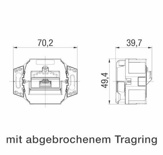 Netwerkdoos Inbouw Inzet met centraalstuk en frame CAT 6 1 poort Rutenbeck 138112030 Zuiver wit