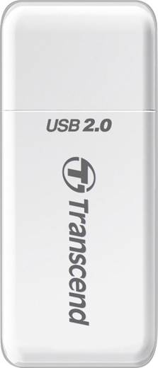 Transcend P5 Externe geheugenkaartlezer USB 2.0 Wit