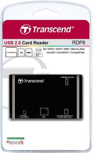Transcend P8 Externe geheugenkaartlezer USB 2.0 Zwart