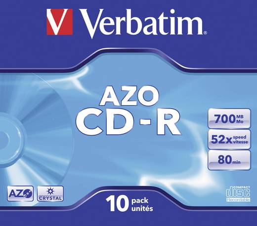 Verbatim 43327 CD-R 80 disc 700 MB 10 stuks Jewelcase
