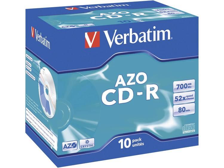 Verbatim 43327 CD-R 80 disc 700 MB 10 stuks Jewelcase