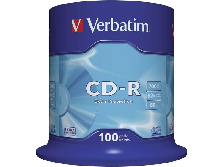 Verbatim 43411 CD-R 80 disc 700 MB 100 stuks Spindel