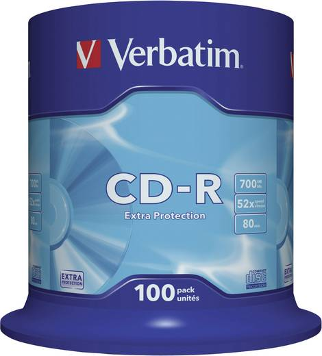 Verbatim 43411 CD-R 80 disc 700 MB 100 stuks Spindel