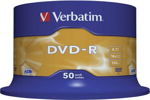 DVD-R disc 4.7 GB Verbatim 43548 50 stuks Spindel