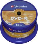 Verbatim DVD-R 4,7 GB 16x 50 st spindel krasvast