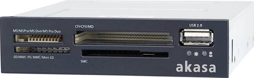 Akasa AK-ICR-01B Inbouw-geheugenkaartlezer 8.9 cm (3.5 inch) Zwart, Wit