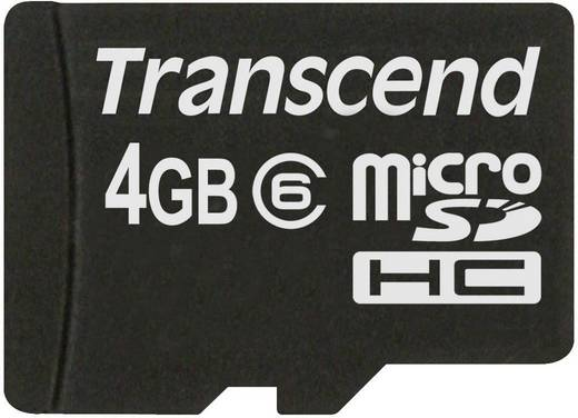 Transcend Standard 4 GB microSDHC-kaart Class 6 incl. SD-adapter