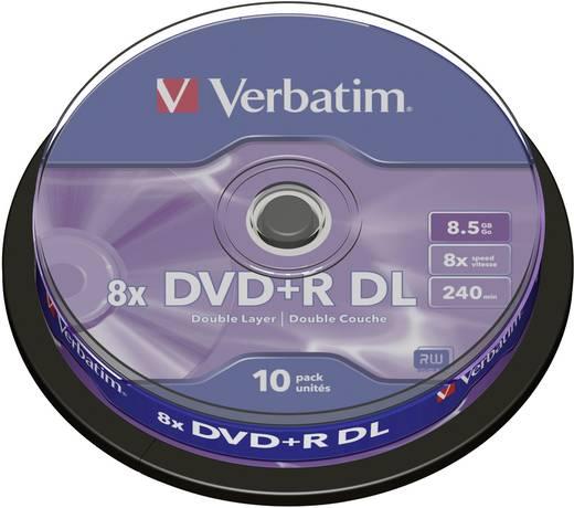 DVD+R DL disc 8.5 GB Verbatim 43666 10 stuks Spindel