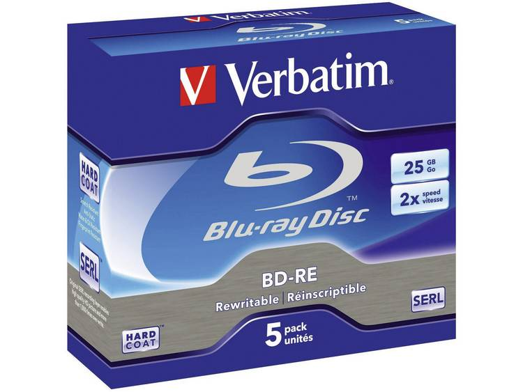 Verbatim Blu-ray disc BD-RE 43615 25 GB 120 min. 5 Stuks
