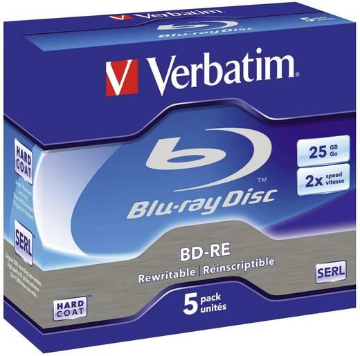 Verbatim Blu-ray BD-RE herschrijfbaar 43615 5 stuks 25 GB