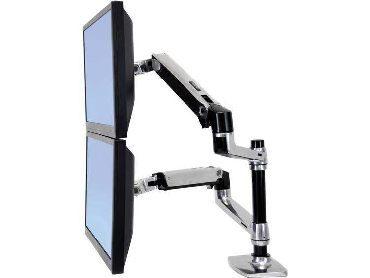 Monitor-tafelbeugel Ergotron LX Doppelschirmlösung 38,1 cm (15) - 61,0 cm (24) Kantelbaar en zwenkbaar, Roteerbaar 2-voudig