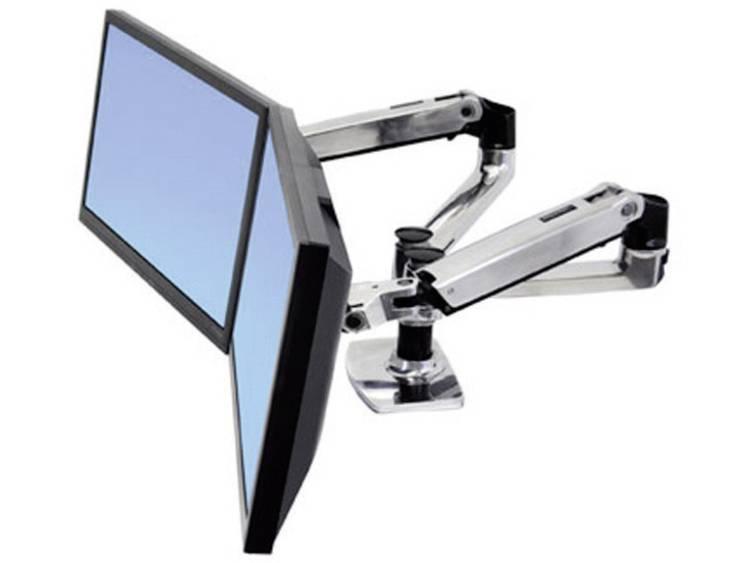 Monitor-tafelbeugel Ergotron LX Doppelschirmlösung 38,1 cm (15) - 68,6 cm (27) Kantelbaar en zwenkbaar, Roteerbaar 2-voudig