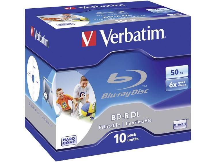Verbatim 43736 Blu-ray BD-R DL disc 50 GB 10 stuks Jewelcase Bedrukbaar