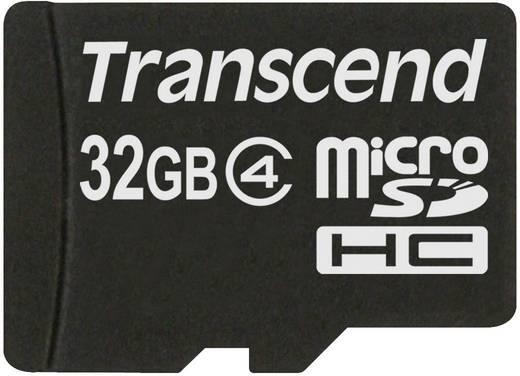 Transcend Standard 32 GB microSDHC-kaart Class 4 incl. SD-adapter
