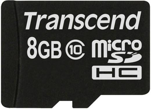 Transcend Premium 8 GB microSDHC-kaart Class 10 incl. SD-adapter