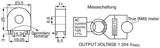 Stroomomvormer 602 Ω (l x b x h) 11 x 25 x 23.5 mm TZ 77 1 stuks