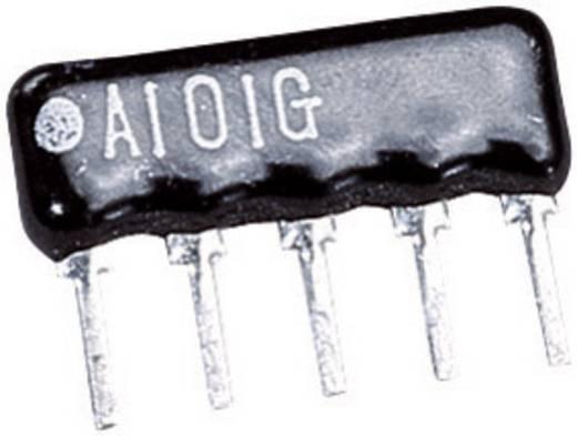Weerstandsnetwerk 2.2 kΩ Radiaal bedraad SIP-4+1 0.125 W 1 stuks