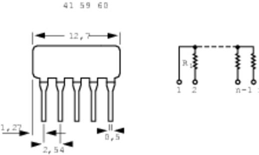 Weerstandsnetwerk 220 Ω Radiaal bedraad SIP-4+1 0.125 W 1 stuks