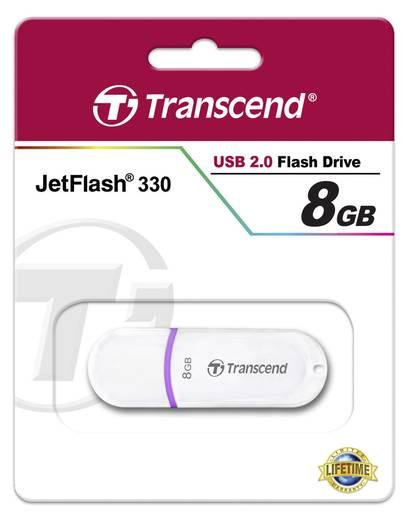 Transcend JetFlash® 330 8 GB USB-stick Wit USB 2.0