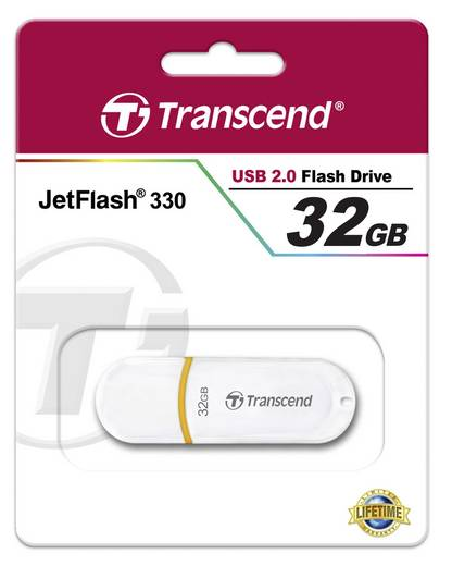 Transcend JetFlash® 330 32 GB USB-stick Wit USB 2.0