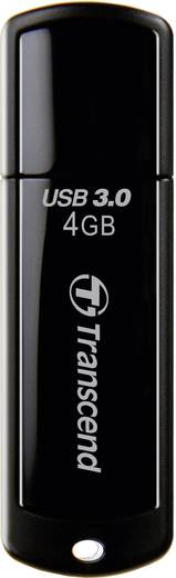 Transcend JetFlash® 700 4 GB USB-stick Zwart USB 3.0