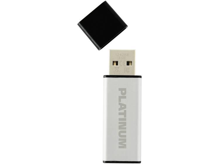 Platinum ALU USB-stick 4 GB Zilver 177555 USB 2.0