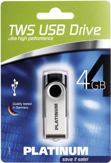 Platinum TWS 4 GB USB-stick Zwart USB 2.0