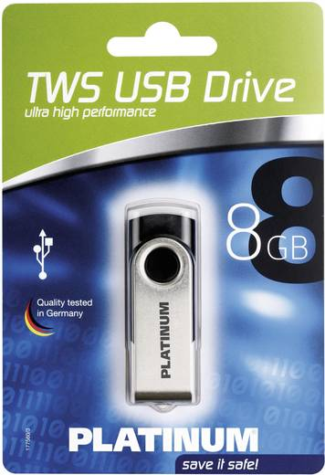 Platinum TWS 8 GB USB-stick Zwart USB 2.0
