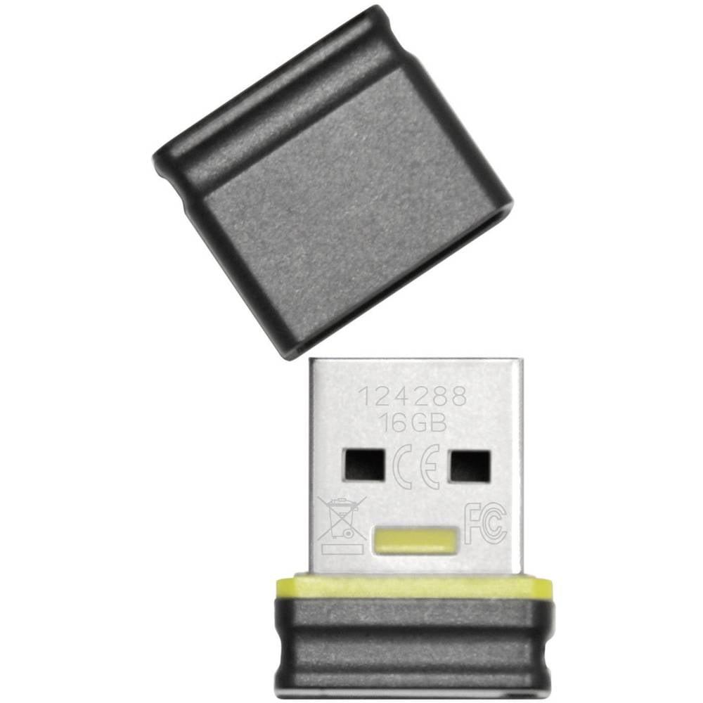 Platinum Mini USB-minne 16 GB Svart, Blå 177536 USB 2.0