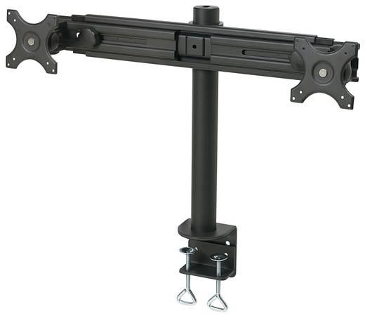 """SpeaKa Professional 28235C47 2-voudig Monitor-tafelbeugel 33,0 cm (13"""") - 68,6 cm (27"""") Kantelbaar en zwenkbaar, Roteerb"""